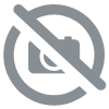 Lampe 3 Globes VERTS - Barre LAITON